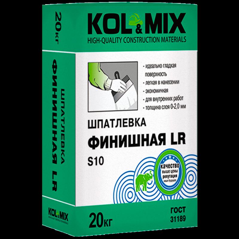 Шпатлевка Финишная LR S10, Kolmix/Колмикс 20 кг.