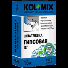 Шпатлевка Гипсовая S7, Kolmix/Колмикс 15 кг.